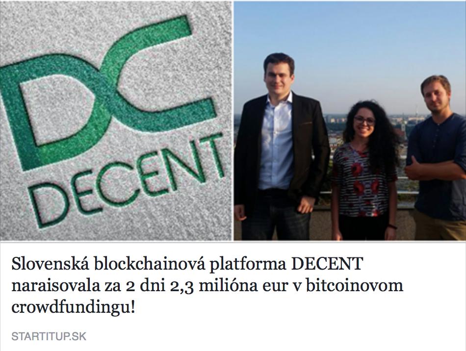 Ako fungujú decentralizované noviny Decent?